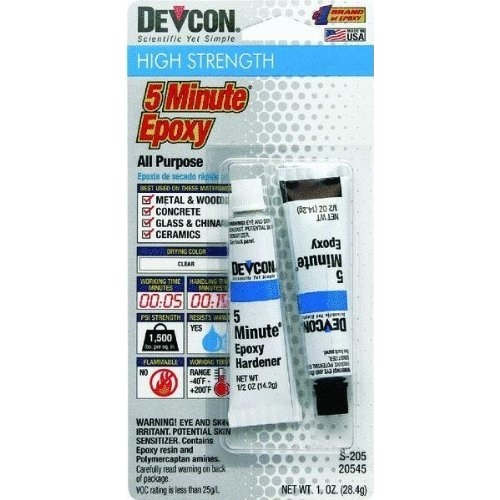 devcon 5 minute epoxy instructions