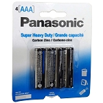 Panasonic AAA 1.5V Super Heavy Duty Alkaline Battery- 4/pk