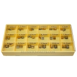 SEIKO Style Center Clasp Assortment - Gold & Stainless Steel 36pcs (2.0mm-10.5mm / 0.5mm)
