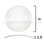 1.5mm Large Double Dome Mineral Glass Crystal (35.5mm-50.0mm / 0.5mm increment)