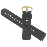 18mm Casio DW1200 Black Watch Band