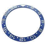 Bezel Insert To Fit Rolex GMT - 40.0mm Blue / White Ceramic