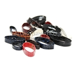 Leather Strap Keeper Assortment (20 PCS) - Mixed Colors