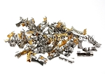 End Piece Assortment (100 PCS) - Gold, 2-Tone & Stainless Steel