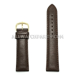 Dark Brown Lizard Grain Leather Band (12mm-24mm)
