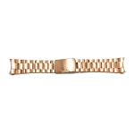 Solid Stainless Steel Band Rose Gold Curved End (16-24MM)