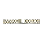 Solid Stainless Steel Band Two-Tone Stainless Steel-Gold (White-Yellow)(16-24MM)