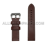 Dark Brown Panerai Style Genuine Leather Band (24MM)