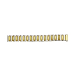 Expansion Metal Watch Band Two Tone Yellow / White Color (12mm-16mm)