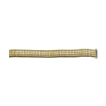 Expansion Metal Watch Band Two Tone Yellow / White Color (10mm-14mm)