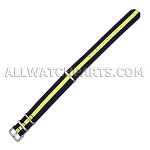 NATO Ballistic Nylon Yellow In Blue Strap (20mm)