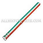 NATO Ballistic Nylon Green White Orange Strap (20mm)