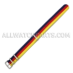 NATO Ballistic Nylon Blue Red Yellow (20mm)