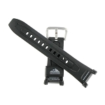 18mm Black Resin PAG40 Casio Watch Band