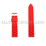 Red Silicone Rubber Presidential Style Watch Strap (16mm-26mm)
