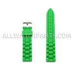 Green Silicone Rubber Presidential Style Watch Strap (16mm-26mm)
