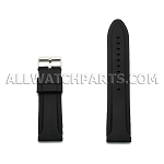 Black Silicone Rubber Watch Strap (18mm-30mm)