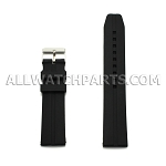Black Silicone Rubber Watch Strap (18-30mm)