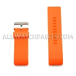 Orange Silicone Thick End Rubber Watch Strap 28mm