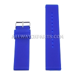 Flat Blue Silicone Rubber Watch Strap (12mm-26mm)