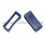 Silicone Strap Keeper Assortment - Navy Blue, 14pcs (16mm-28mm)