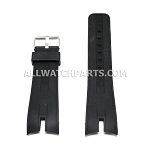 Black Silicone Rubber Watch Strap (26mm)