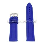 Sport Blue Silicone Rubber Watch Strap (18mm-30mm)