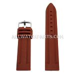 Sport Brown Silicone Rubber Watch Strap (18mm-30mm)