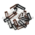 Silicone Strap Keeper Assortment 16mm-30mm (24 PCS) - Black, Brown & White