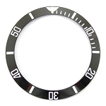 Bezel Insert To Fit Rolex Submariner - 40.0mm Black / White Ceramic