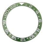 Bezel Insert To Fit Rolex GMT - 40.0mm Green / White Ceramic