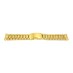 Solid Stainless Steel Band Gold with Curved End (16mm-24mm)