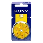 Sony PR70 (#10) Zinc Air Hearing Aid Battery 1.4V