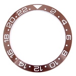 Bezel Insert To Fit Rolex GMT - 40.0mm Brown / White Ceramic