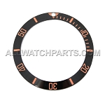 Bezel Insert To Fit Rolex Submariner - 40.0mm Black / Rose Gold Ceramic