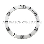 Bezel Insert To Fit Rolex Submariner - 40.0mm White / Black Ceramic