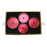 Extra Large Red Aluminum Circular Case Press Dies 4pc Set