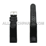 Black Swiss Army Genuine Leather Band (12mm-24mm)