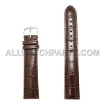 Extra Long Brown Alligator Grain Leather Band (17mm-24mm)