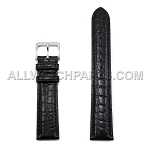 Black Genuine Alligator Leather Band (10mm-24mm)
