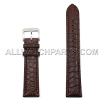 Brown Genuine Alligator Leather Band (10mm-24mm)