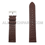 Flat Brown Genuine Alligator Leather Band (18mm - 20mm)