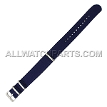 NATO Ballistic Nylon Dark Blue Strap (16mm-24mm)