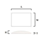 1.0mm Single Dome Rectangle Mineral Glass Crystal