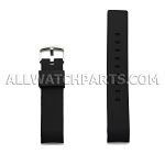 Brown Silicone Rubber Watch Strap Thick Curved End (20mm - 24mm)