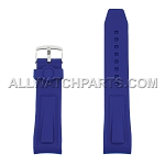 Navy Blue Silicone Rubber Watch Strap (24mm)