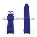 Navy Blue Silicone Rubber Watch Strap with Thick Curved End (24mm & 27mm)
