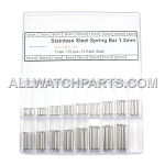 1.2mm Double Flange Thin Spring Bar Assortment - 340pcs (6mm-22mm)