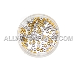 Screw Cap Assortment - Gold & Stainless Steel 100pcs