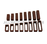 Silicone Strap Keeper Assortment 16mm-30mm (16 PCS) - Brown